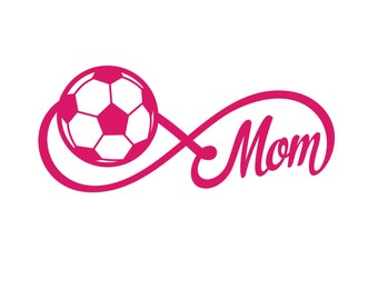 Soccer Mom Car Decal - Choose from ANY color or pattern - Car Decal Monogram Car Decal Sticker Car Decal Sports Mom