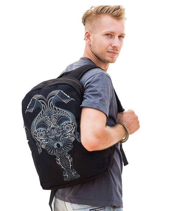 Psychedelic Art Backpack, Laptop Backpack, Laptop Bag Fitting 13-15-17 inch, Festival Backpack, Psy Trance Tribe