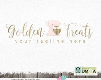 baking logo bakery logo gold logo premade logo mixing logo cake decorator stand mixer logo premade logo design logo for bakers baking