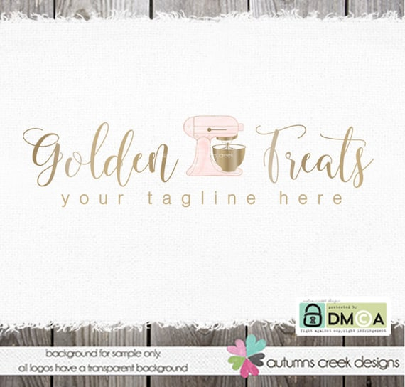baking logo bakery logo gold logo premade logo mixing logo cake decorator stand mixer logo premade logo design logo for bakers baking