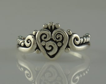 Sterling Silver Heart Ring- One of a Kind