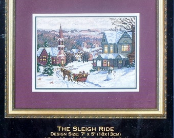 Dimensions The Gold Collection Petites THE SLEIGH RIDE By Randy Van Beek Christmas - Counted Cross Stitch Kit