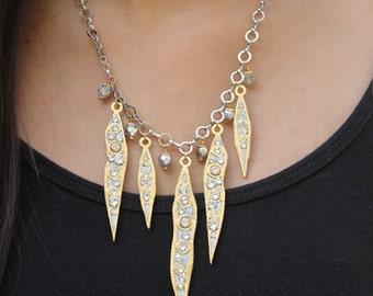 Michal Golan Icicle Charms Statement Necklace