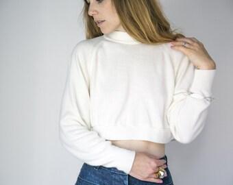 Cropped Cream Sweater