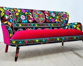 Suzani 3-seater sofa - Spring flowers