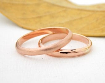 Simple Rose Gold-filled Domed Ring: 14K gold-filled, domed ring, gold ring, rose gold ring, wedding band, domed band, matte, polished