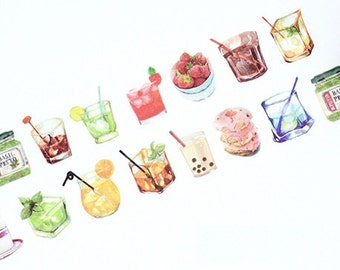 Drinks Washi Tape (30mm X 5M)