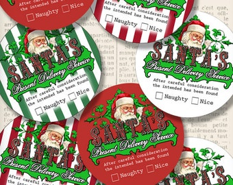 Christmas Gift Delivery Labels printable paper crafting scrapbooking gift tag instant download digital collage sheet - 1257VEDECICM
