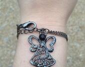 Angel bracelet-  Slider/Stack Bracelet-Dream, Joy-Inspirational Jewelry gift