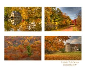 Bucks County in Autumn Print Set, Fine Art Photography, Landscape Photograph, Fall Foliage, Autumn Color, Wall Art, Pennsylvania, Gift Set