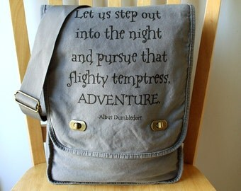Harry Potter Quote Messenger Bag
