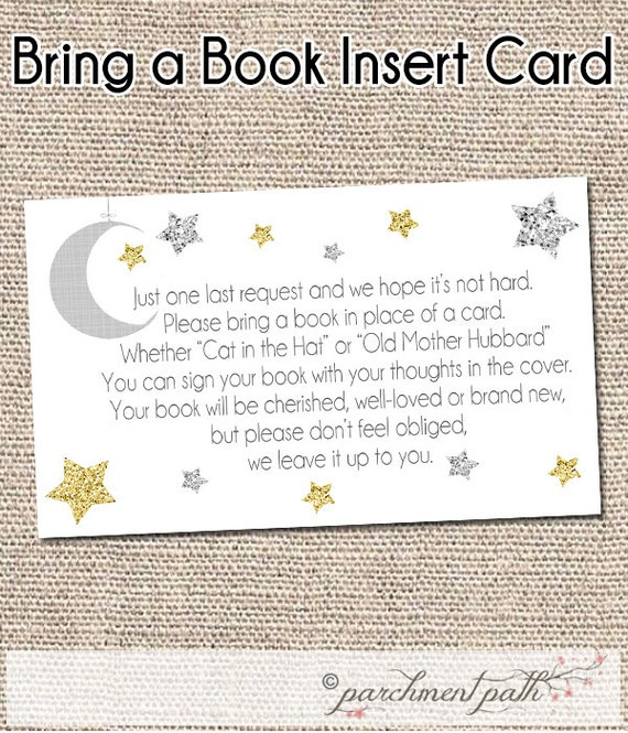 star baby shower instant download bring a book instead of a card