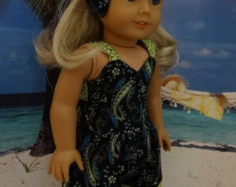 Retro romper suit for American Girl or similar 18 inch doll