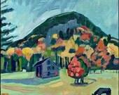 Connecticut, Original Painting, Landscape Art, Granby, CT, Acrylic Paint.