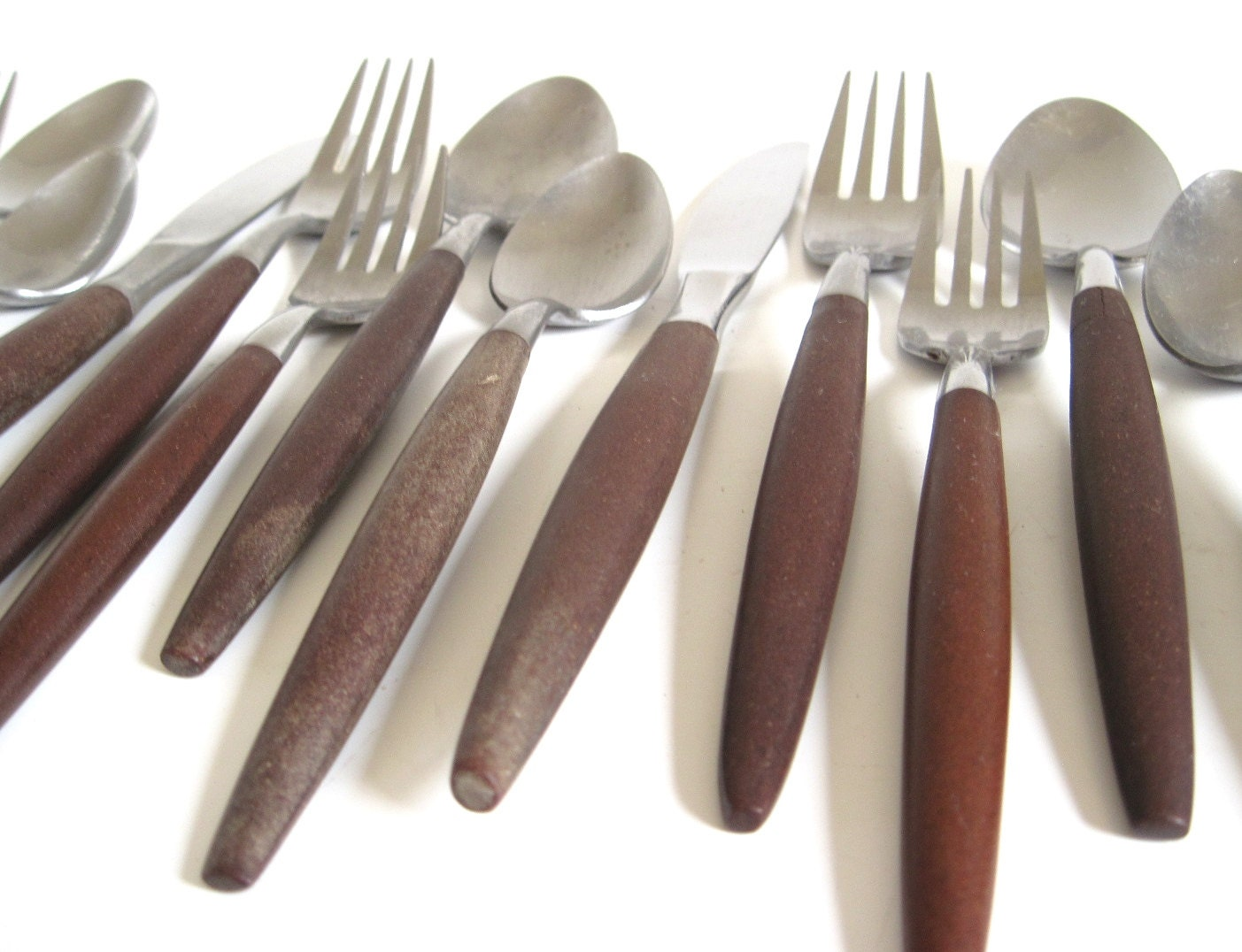 American Tempo Stainless Flatware Set Danish Modern