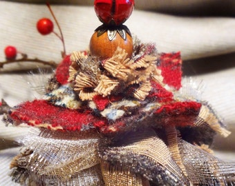 Up-Cycled Limited Edition Fabric Holiday Ornament