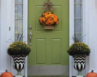 Wreath Alternative - Fall Wreath - Hydrangea Wreath - Door Wreath - Choose Color