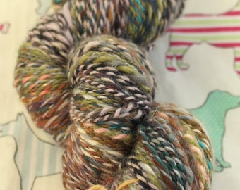 Hand Spun yarn in mixed natural fibres and colours (type 2)