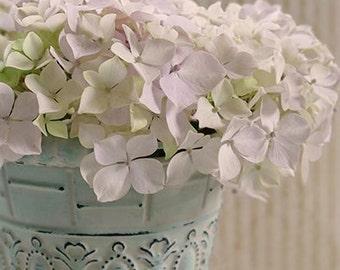 Vintage White Hydrangea, Flower Photography, Garden Photography, Hyrangea Photography, White Flowers, Spring Flowers