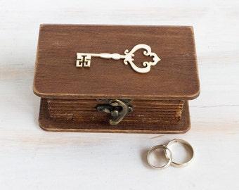 Rustic Ring Box Key Wedding Box Ring Bearer Box We Do Personalized Ring Bearer Box Engagement box Wedding Ring Holder Jewelry Box