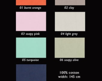 COTTON FABRIC with a biological enzyme wash finish