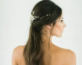 Silver crystal Bridal Headpiece, Wedding Hair Vine, Bridal Hair Piece, Silver Crystal beaded head piece, Gold Wedding Hair Accessories