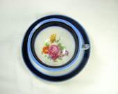 Vintage ROSE DEMITASSE CUP 3 Leg Tea Flower Bouquet