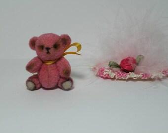 """Miniature Dollhouse *Tiny* 1.4"""" Teddy Bear Artist Handmade"""