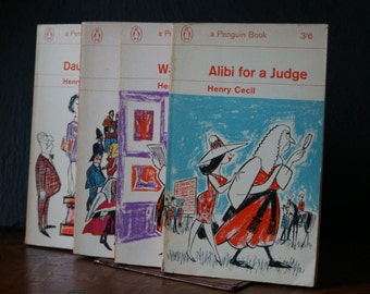 Vintage Penguin Collection - Four hilarious romps through the English justice system by Henry Cecil. Midcentury madness at it's best!