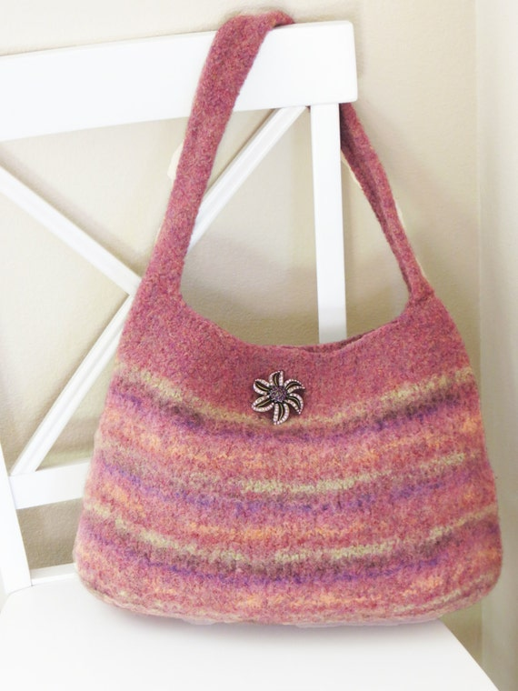 Knitted Purse Pattern : Felted Purse Pattern Knit Bag Pattern Felted Purse Knitted