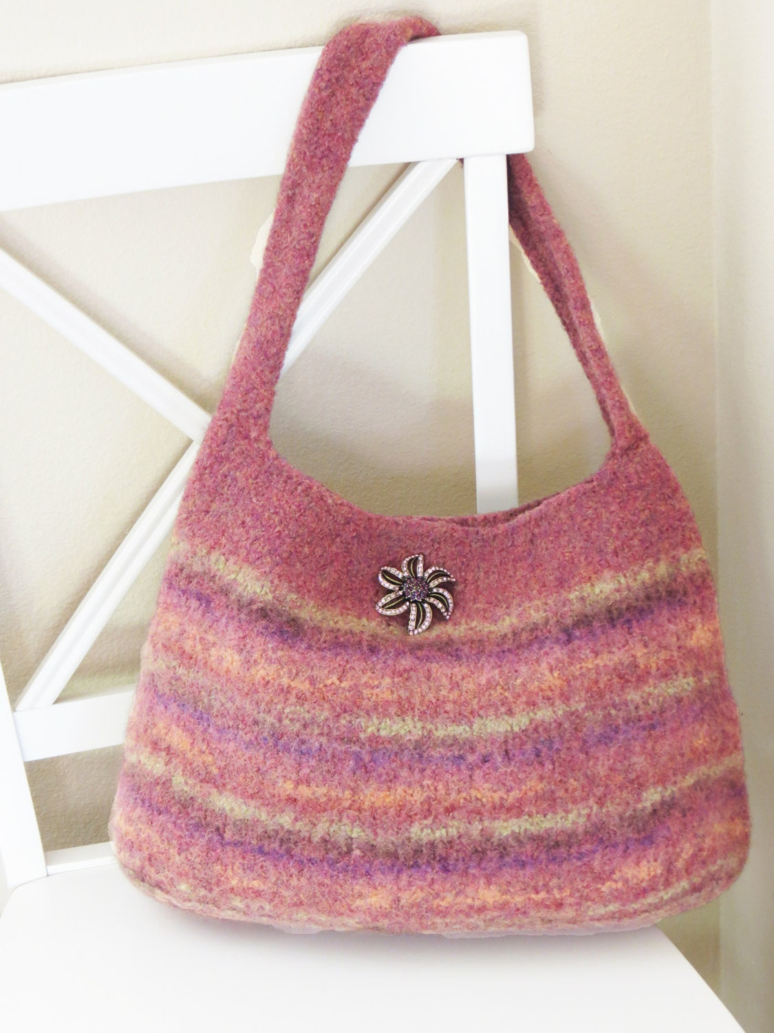 Knitting Pattern Felted Bag : Felted Purse Pattern Knit Bag Pattern Felted Purse Knitted