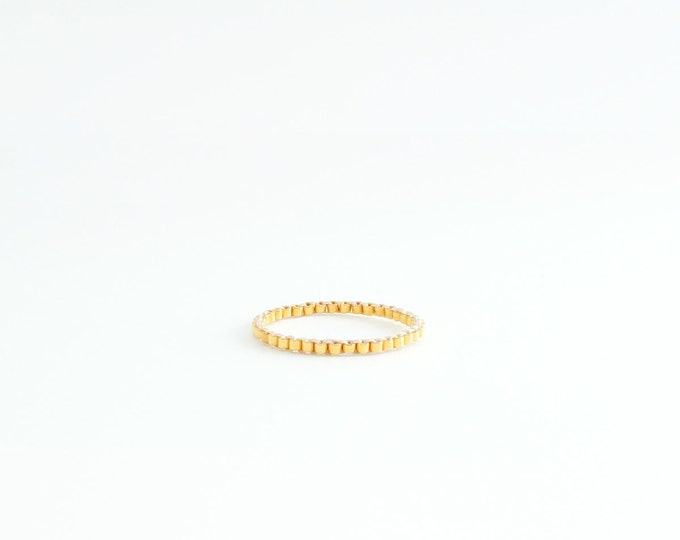 Whisper Gold Ring, Stacking Gold Ring, Gold Beaded Ring, Gold Skinny Ring, Minimalist, 24k Gold Ring, Modern, Simple, Romantic