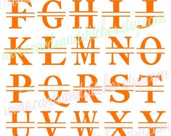 Monograms SVG - Split Monograms SVG - Cricut Cut - Digital Cutting File - Vector File - Instant Download - Graphic Design - Svg, Dxf, Jpg