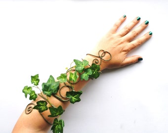 Poison ivy arm cuff arm wrap mother nature woodland forest fancy dress fairy tree people costume