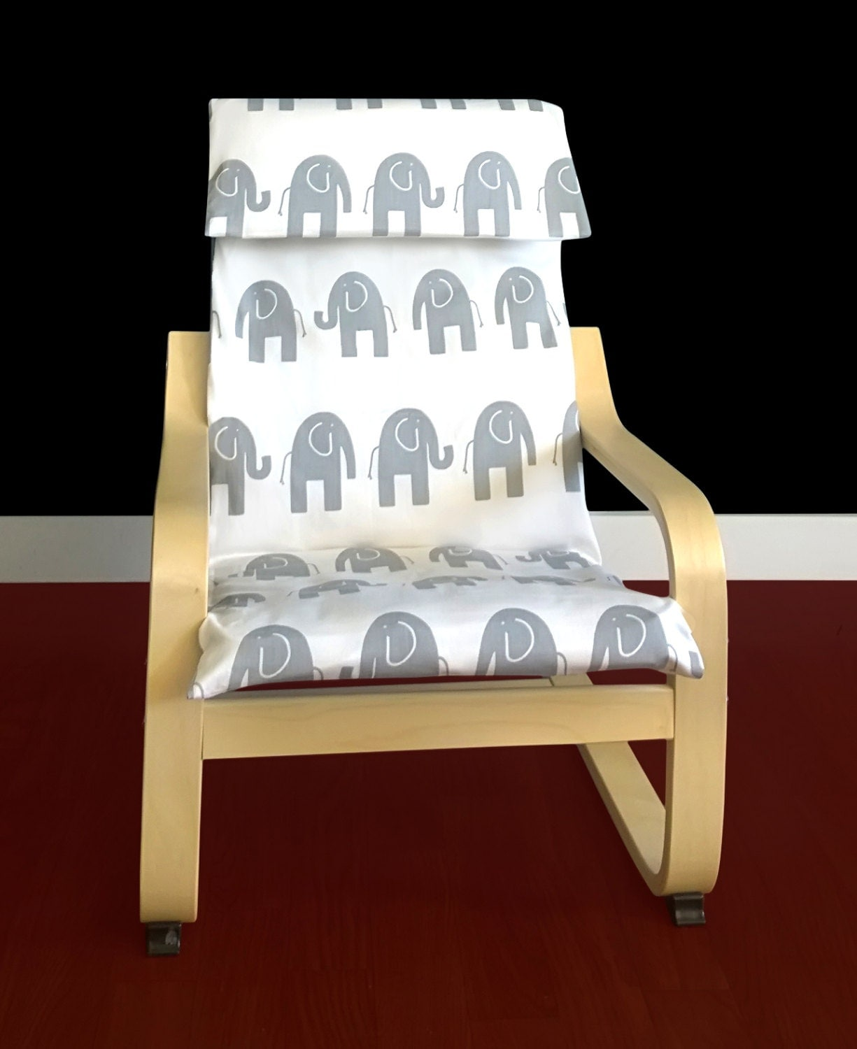 Ikea Poang Chair Cover Etsy ~ IKEA KIDS POÄNg Cushion Slipcover White by RockinCushions on Etsy