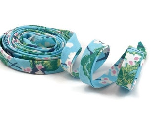 Fairy Tale In The Sky Blue Bias Tape Double Fold- Half Inch