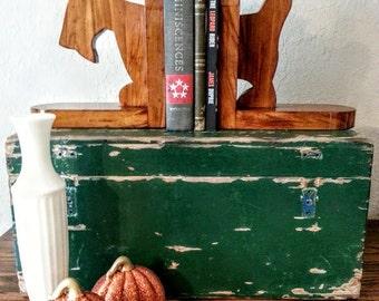 Scottie Dog Bookends Scottish Terrier Book Ends Vintage Wooden