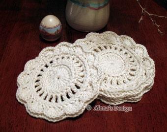Crochet Pattern 153 - Crochet Coaster - Floral Style Coaster - Crochet Patterns - Crochet Flower Motif - Coaster Pattern - Large Coaster