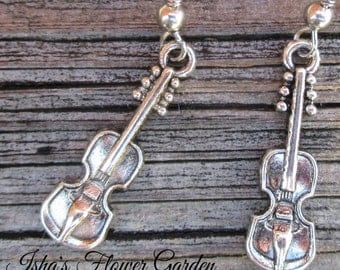violin earrings, gift for violinist
