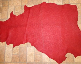 """Leather 8 sq ft 44""""x26"""" Dark Scarlet RED Western Saddle Embossed LAMBSKIN #629  1.5 oz / .6mm PeggySueAlso™"""