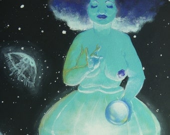 Original Painting: Our Lady, Mother of Jellyfish