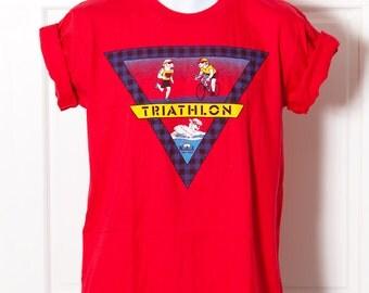 Fun TRIATHLON Tshirt with sheep on it - WOOLRICH - M
