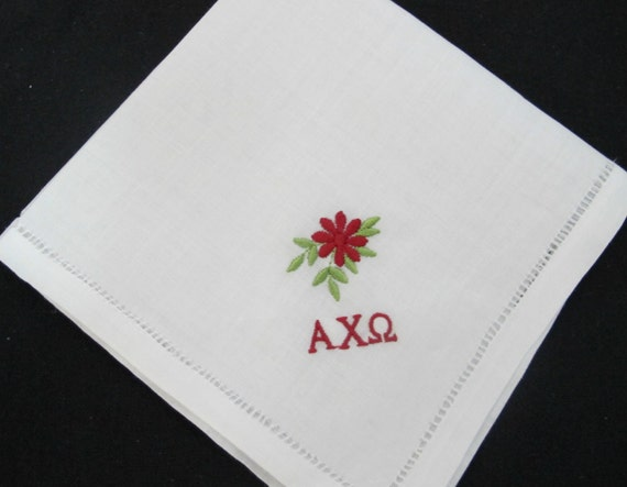 Wedding Handkerchief Embroidered for Sorority Bridesmaid