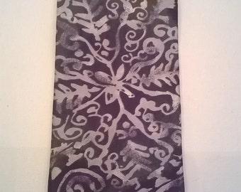 Vintage Man's Tie - Gray Grey Blue Rust Abstract Design - 100% Silk - 4 Inch Wide, 56 Inch Long Men's Necktie