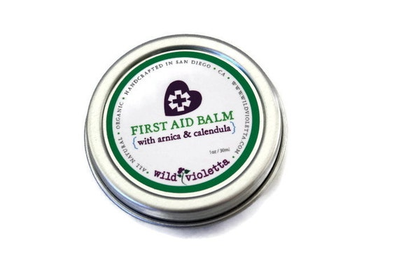 First Aid Healing Balm for cuts, burns, bruises, scrapes and quick healing // Boo Boo Ouch Cream