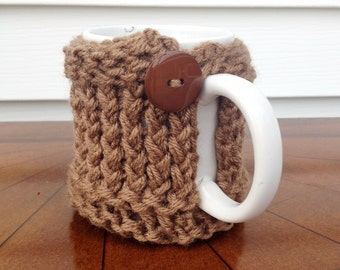 Brown Coffee Cup Cozy