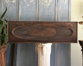 "Large Antique Wood Panel FABULOUS SHABBY CHIC Backsplash Wall Decor Headboard Header 16"" x 51"""
