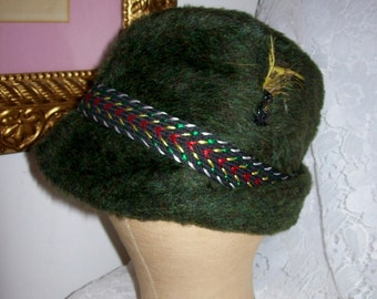 Vintage 1950s Men's Faux Fur Russian Cossack or Garrison Hat Small Only 7 USD