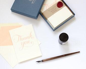 Letterpress Thank You Card Box Set