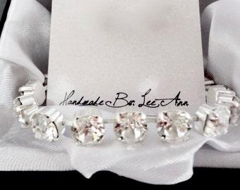 Crystal Bracelet ~ Swarovski ~ Wedding bracelet ~ Bridal bracelet - Chunky, Tennis bracelet ~ Brides bracelet - Bridesmaids bracelet- SOPHIA